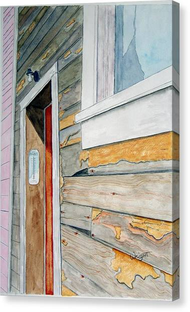 Juneau Townhouse Canvas Print by Larry Wright