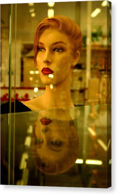 Junetta In Reflective Mood Canvas Print by Jez C Self
