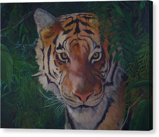 Jungle Eyes Canvas Print