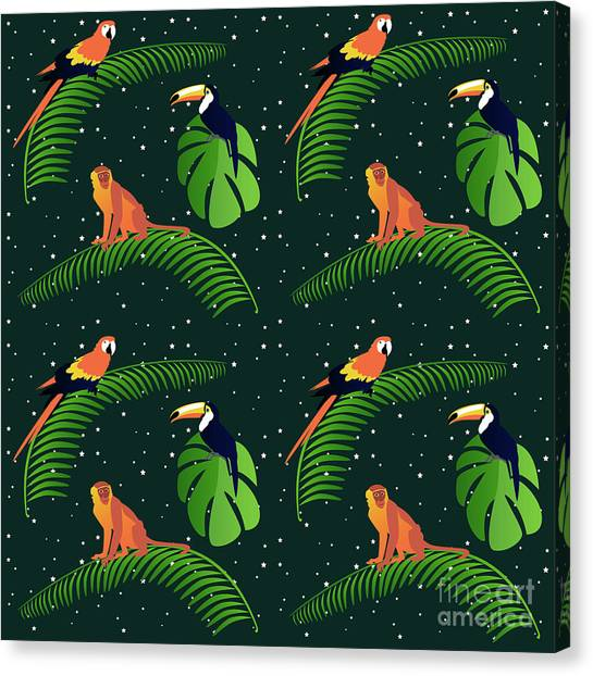 Tropical Rainforests Canvas Print - Jungle Fever by Claire Huntley