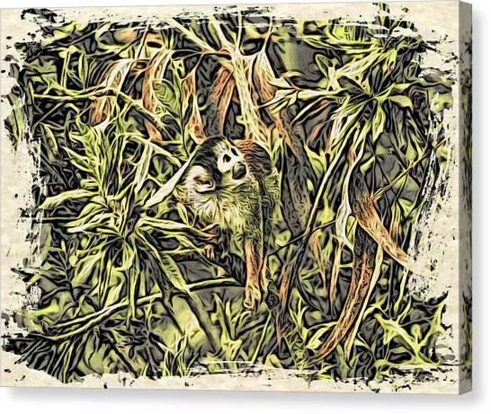 Jungle George Canvas Print