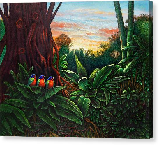Jungle Harmony 3 Canvas Print
