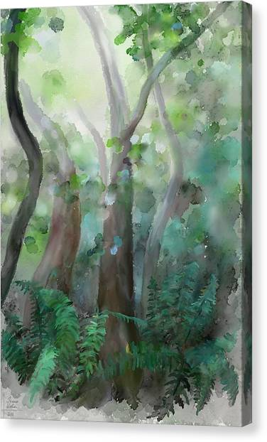 Canvas Print featuring the painting Jungle by Ivana Westin