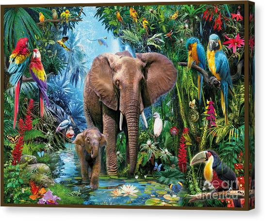 Toucans Canvas Print - Jungle by Jan Patrik Krasny