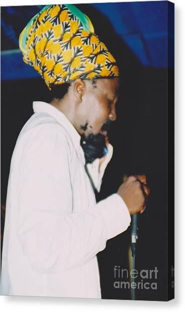 Junior Reid Black Uhuru Frontman Canvas Print by Mia Alexander