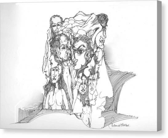 Junk In The Head Canvas Print by Padamvir Singh