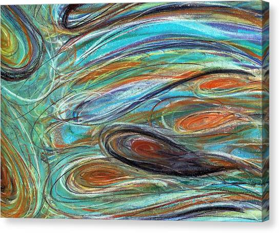 Jupiter Explored - An Abstract Interpretation Of The Giant Planet Canvas Print