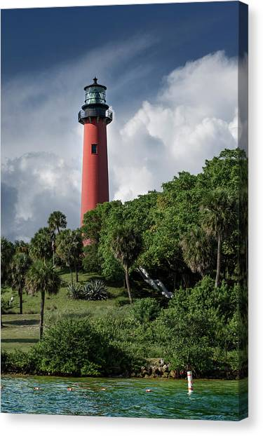 Jupiter Canvas Print - Jupiter Inlet Lighthouse by Laura Fasulo