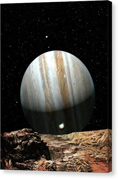 Jupiter Canvas Print - Jupiter Seen From Europa by Don Dixon
