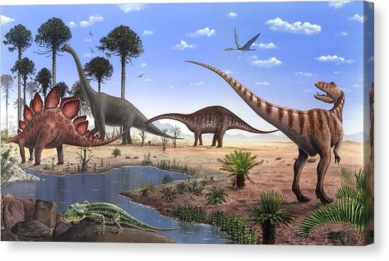 Brachiosaurus Canvas Print - Jurassic Dinosaurs, Artwork by Richard Bizley