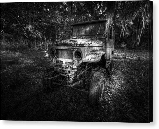 Weed Canvas Print - Jurassic Four Wheeler by Marvin Spates