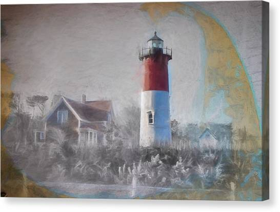 Lighthouses Canvas Print - Nauset Lighthouse And Beach Fun by Jeff Foliage