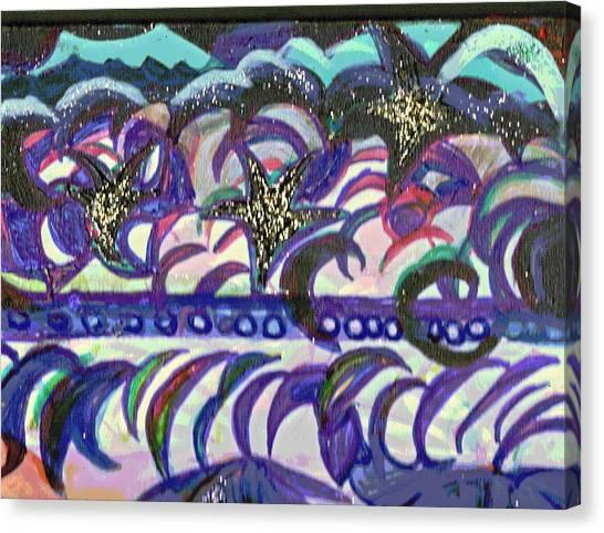 Just A Little Night Mosaic Canvas Print by Anne-Elizabeth Whiteway