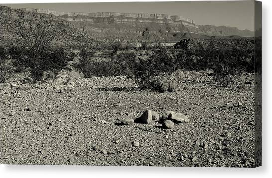 Illegal Aliens Canvas Print - Just A Pile Of Rocks - Question by Karen Musick