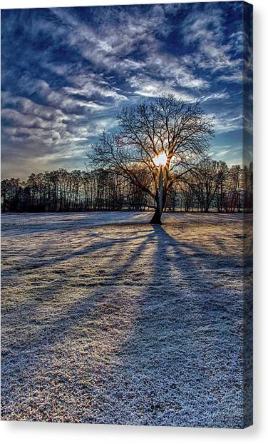 Just After Sunrise On A Cold Morning Canvas Print