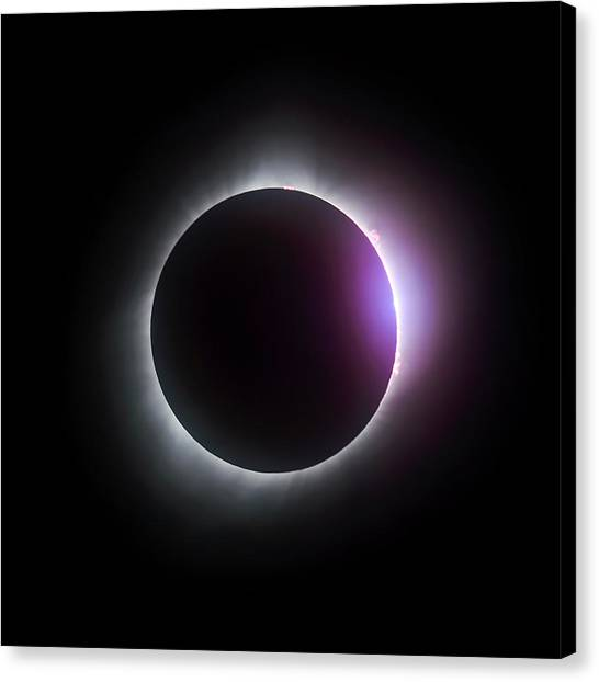 Just After Totality - Solar Eclipse August 21, 2017 Canvas Print