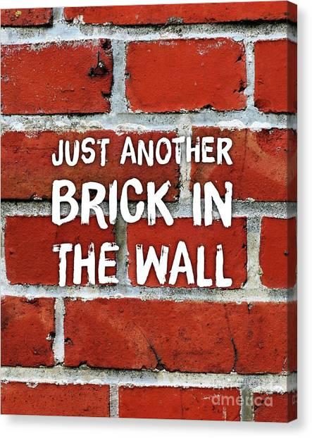 Pink Floyd Canvas Print - Just Another Brick In The Wall by Esoterica Art Agency