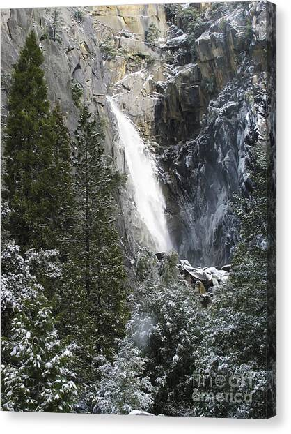 Just Another Morning In Yosemite Canvas Print by Stan and Anne Foster