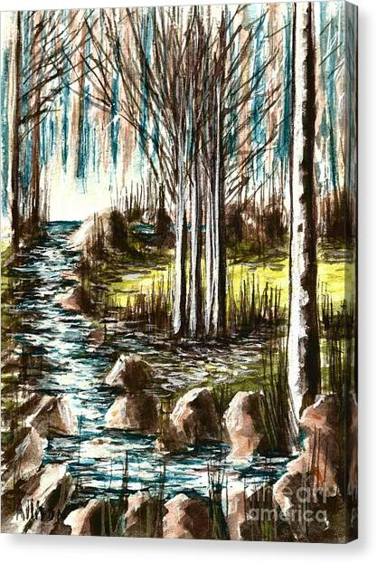 Just Around The Riverbend  Canvas Print