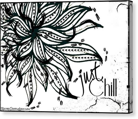 Canvas Print featuring the drawing Just Chill by Rachel Maynard