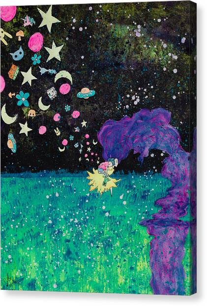 Minecraft Canvas Print - Just Dream by charlotte Schuler
