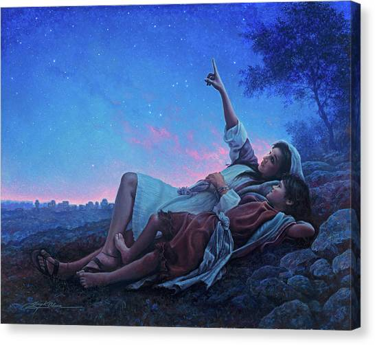 Mary Canvas Print - Just For A Moment by Greg Olsen