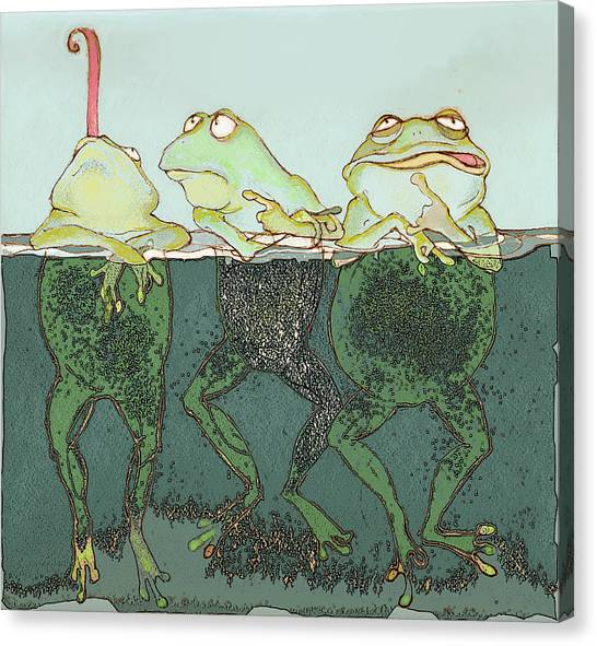 Frogs Canvas Print - Just Hanging by Peggy Wilson