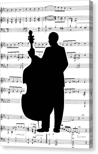 Just Jazz - Double Bass Canvas Print by Di Kaye