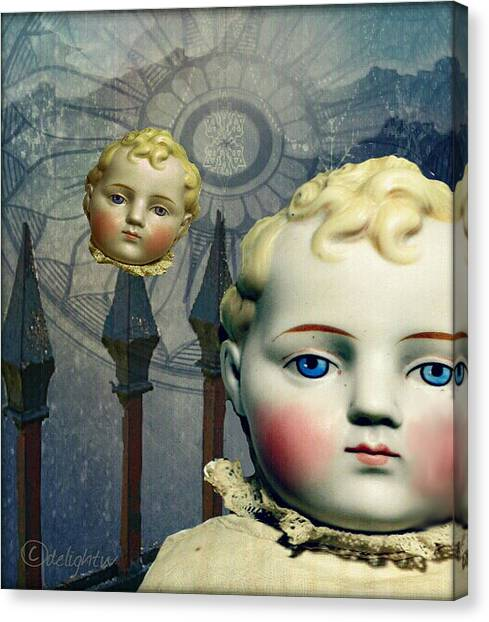 Canvas Print featuring the digital art Just Like A Doll by Delight Worthyn