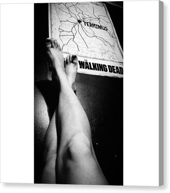 Feet Canvas Print - Just Looking At Pics And Noticed This by Peggy Hoefner