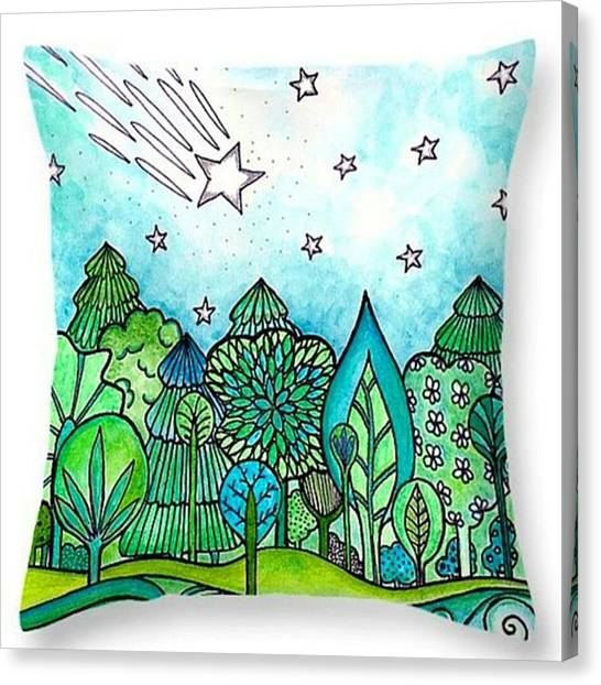 Stars Canvas Print - Just Made A New #throwpillow With My by Robin Mead