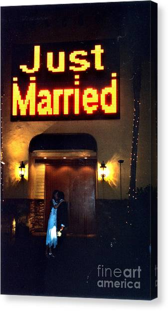 Just Married Canvas Print by Andrea Simon