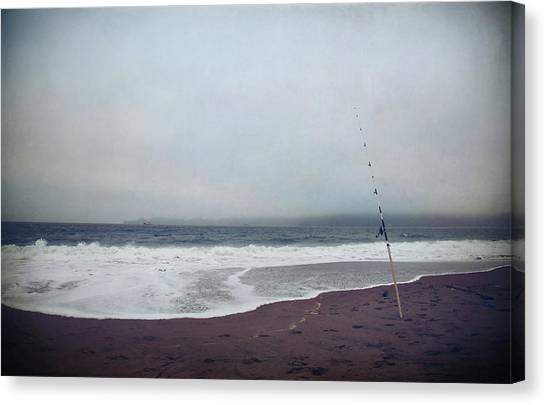 Fishing Poles Canvas Print - Just Me And My Thoughts by Laurie Search