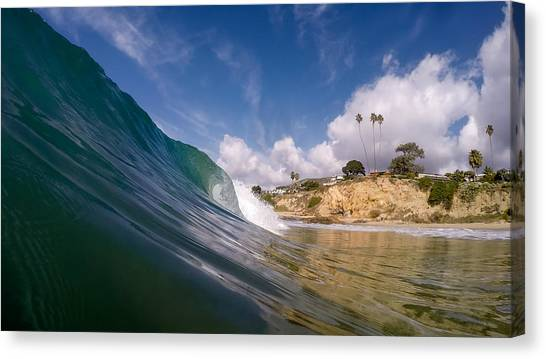 Just Me And The Waves Canvas Print