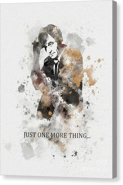 Raincoats Canvas Print - Just One More Thing... by Rebecca Jenkins