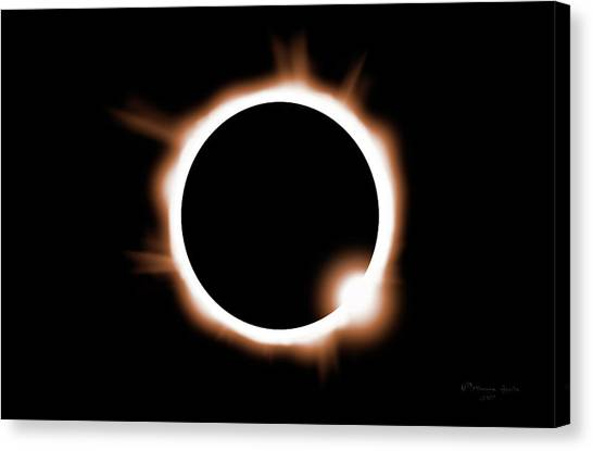 Solar Eclipse Canvas Print - Just One Opportunity by Marvin Spates