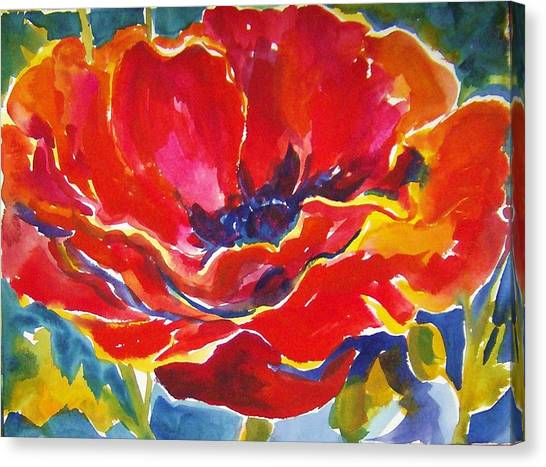 Poppys Canvas Print - Just One Poppy  Sold by Therese Fowler-Bailey
