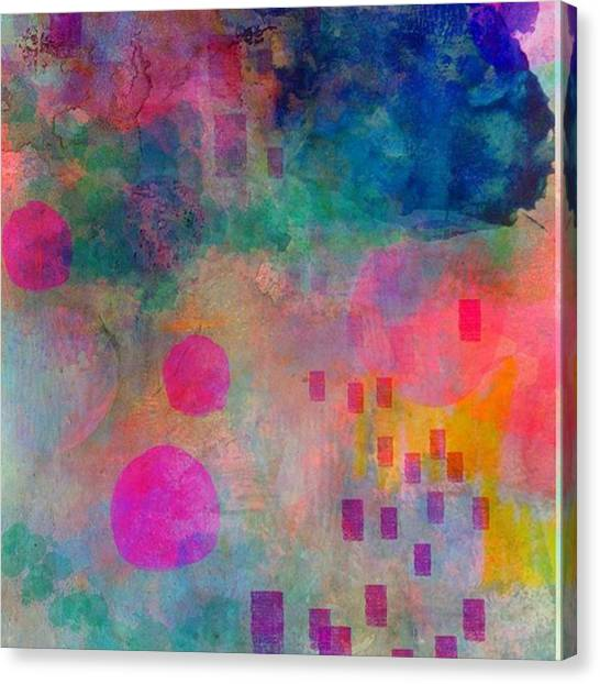 Abstract Canvas Print - Just Playin With My Ipad..too Lazy by Robin Mead