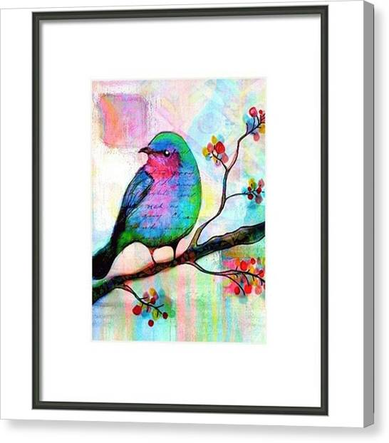 Songbirds Canvas Print - Just Playing Around With My Birdie by Robin Mead