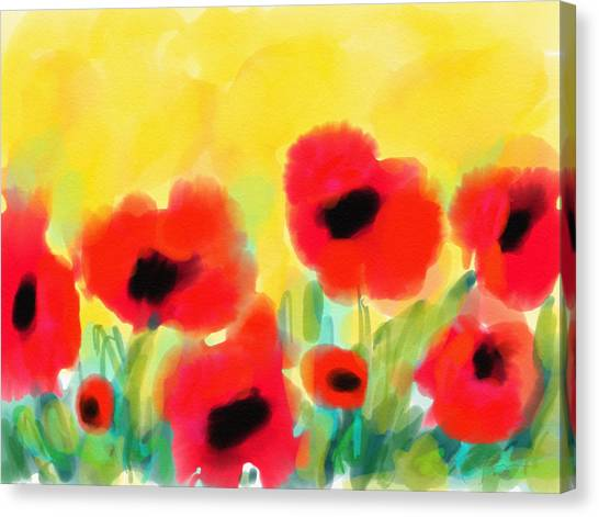 Just Poppies Canvas Print