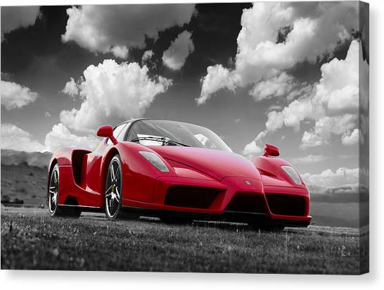 Just Red 1 2002 Enzo Ferrari Canvas Print