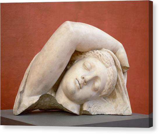 The Uffizi Gallery Canvas Print - Just Resting My Eyes by Marla McPherson