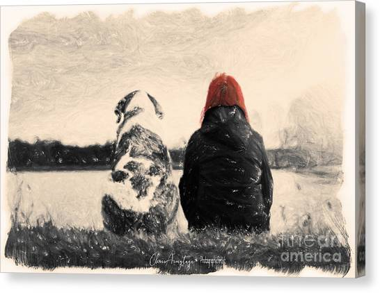 Just Sitting In The Morning Sun Canvas Print