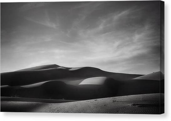 White Sand Canvas Print - Just Tryin' To Find Some Peace by Laurie Search