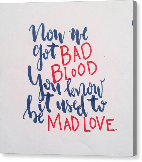 Taylor Swift Canvas Print - Bad Blood by Joelle Ardona