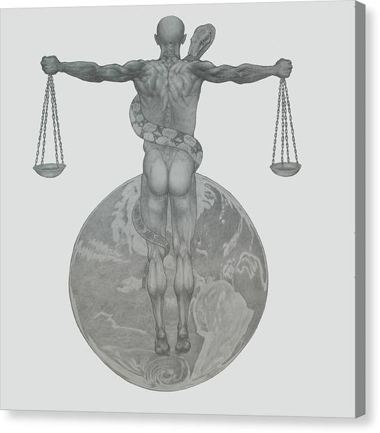 Justice Canvas Print by Desimir Rodic