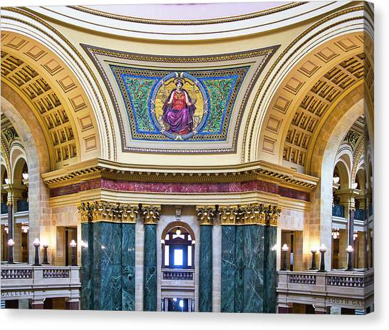 Justice Mural - Capitol - Madison - Wisconsin Canvas Print