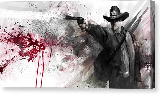 Cowboy Art Canvas Print - Justice by Steve Goad