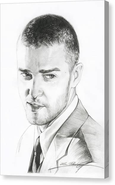 Justin Timberlake Drawing Canvas Print