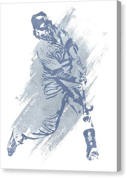 Los Angeles Dodgers Canvas Print - Justin Turner Los Angeles Dodgers Water Color Art 1 by Joe Hamilton